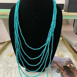 Jewelry - Vintage Genuine Turquoise 6 Strand Necklace